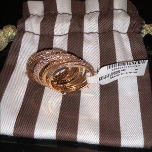 Henri Bendel Rose Gold Petite Ring stack